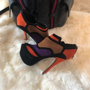 ALBA Multicolored Platform Heels